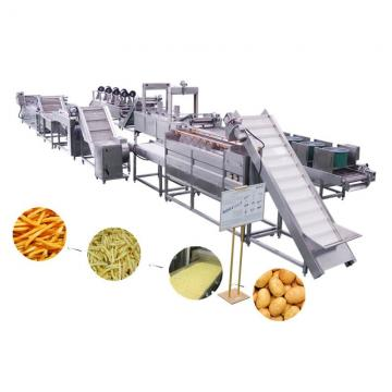 Stainless Steel Made Semi Automatic Frozen Potato Chips Production Line